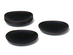楕円銘々皿 溜