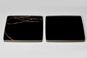 角厚皿 黒