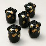 小吸物椀 梅鉢蒔絵