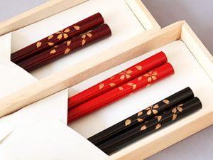蒔絵箸 桜吹雪蒔絵