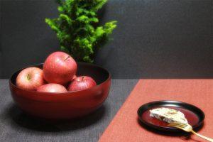 天代鉢と曙溜高台皿