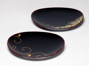 Small dish (Meimei-zara) Oval Arabesque, Shunjuu