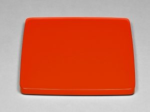 Square thick plate Red