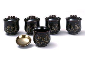 Kosuimono-wan (Soup cup)-Susuki(Japanese pampas grass)