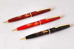 "Maki-e lacquered ballpoint pen ""Butterfly"""