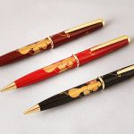 """Maki-e lacquered ballpoint pen """"Gourds"""""""