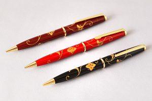 "Maki-e lacquered ballpoint pen ""Arabesque"""