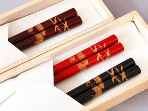 Chopsticks, Cranes and pine tree