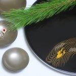 Round Tray + Silver Sake Cups