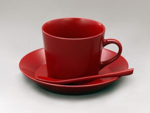 新コーヒーカップ 本朱
